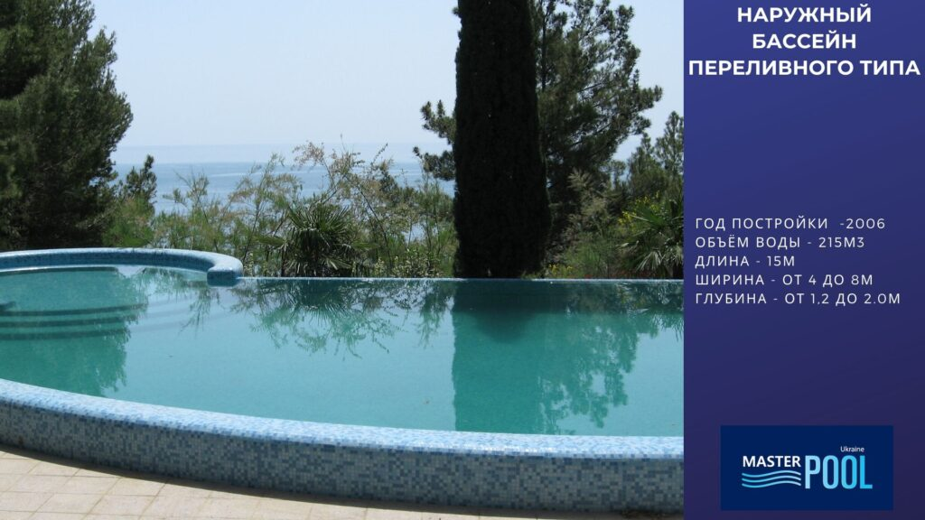 Наружный бассейн переливного типа №1 - Компания «MasterPool»