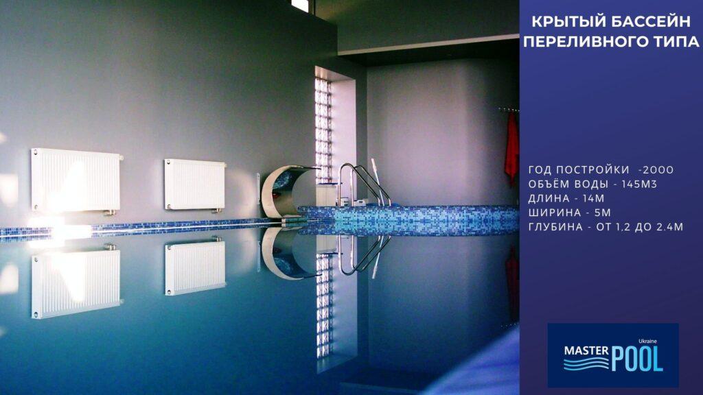 Крытый бассейн переливного типа №1 - Компания «MasterPool»