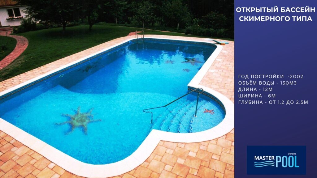 Открытый бассейн скимерного типа - Компания «MasterPool»