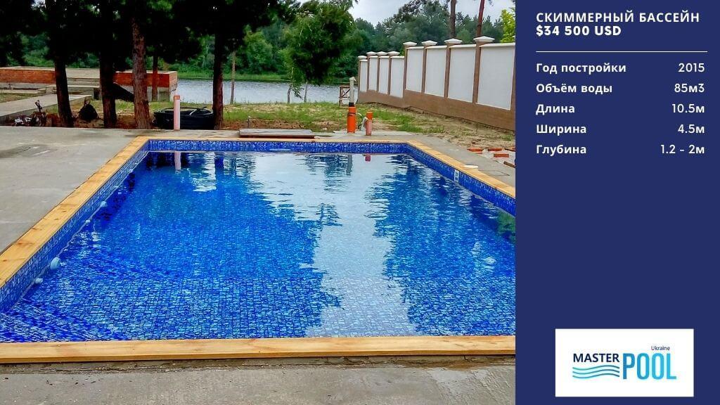 Скиммерный бассейн по цене $34 500 - Компания «MasterPool»