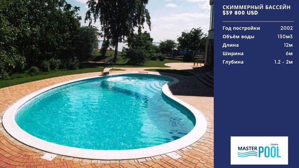 Скиммерный бассейн по цене $39 800 - Компания «MasterPool»