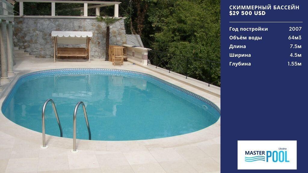 Скиммерный бассейн по цене $29 500 - Компания «MasterPool»