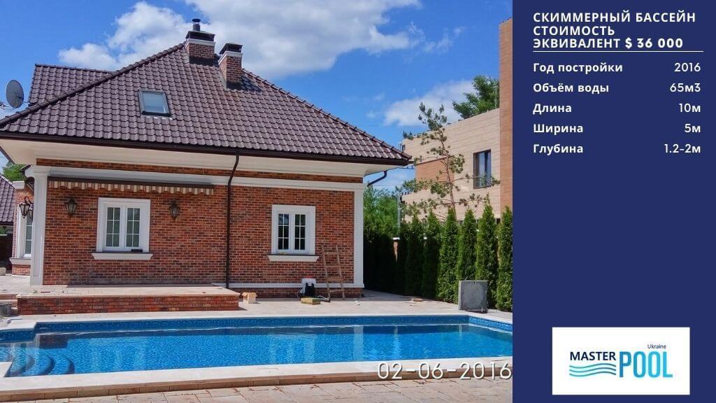 Скиммерный бассейн по цене $36 000 - Компания «MasterPool»
