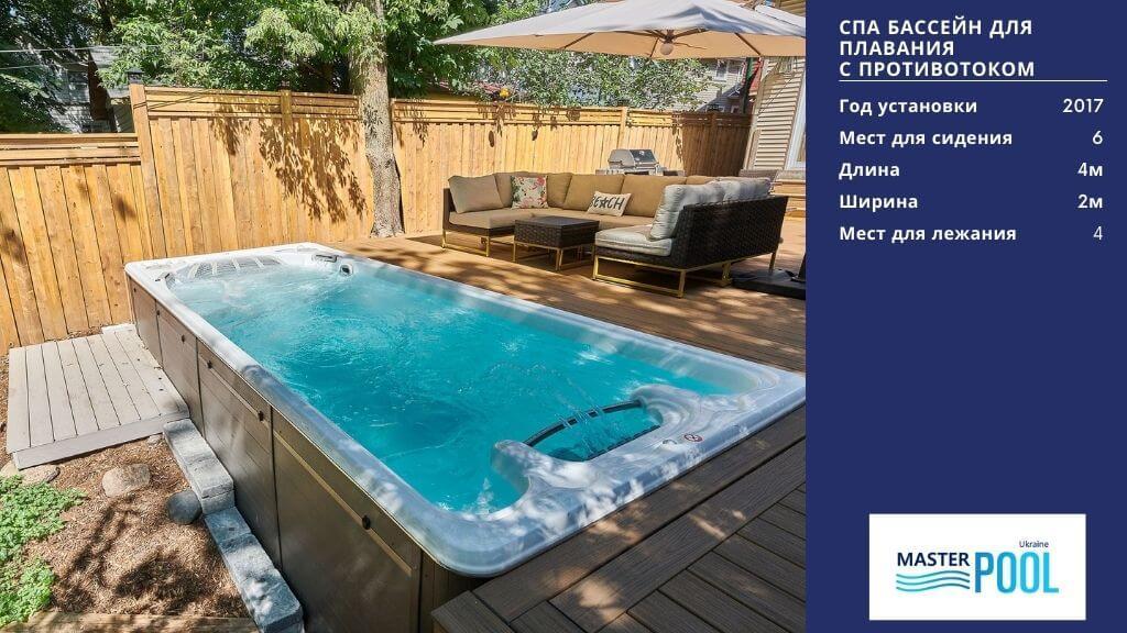 СПА бассейн для плавания с противотоком