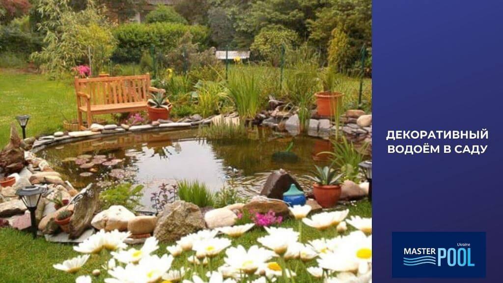 Декоративный водоем в саду - Фото 1