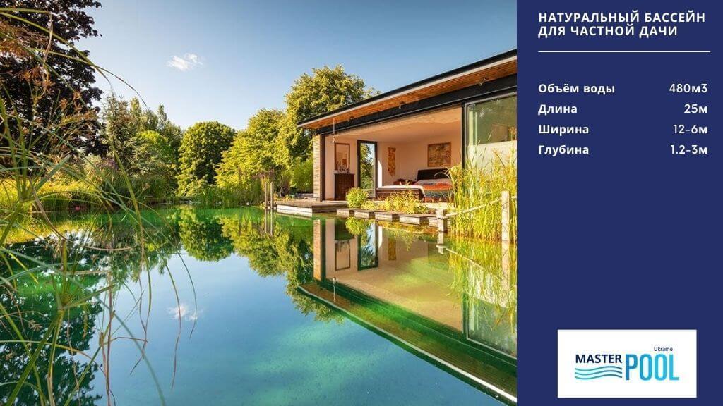 Натуральный бассейн для частной дачи - MasterPool Ukraine